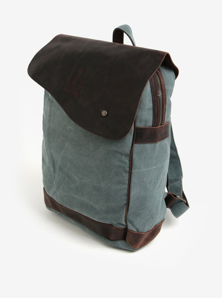 Rucsac unisex bleumarin cu maro Urban Bag