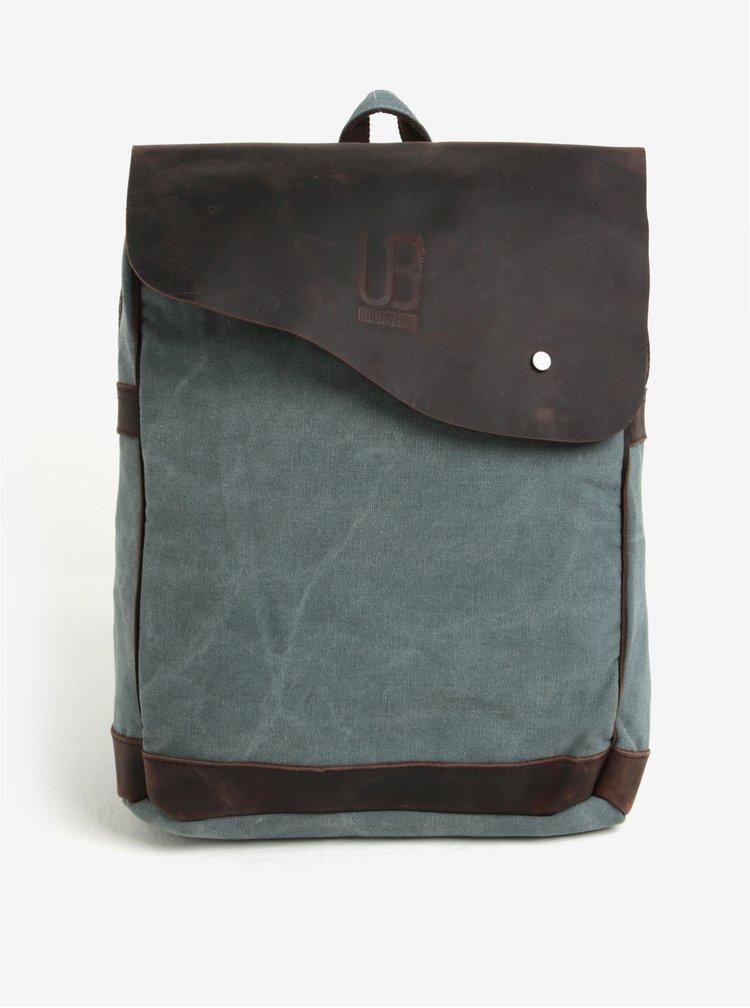 Modro-hnědý unisex batoh s klopou Urban Bag