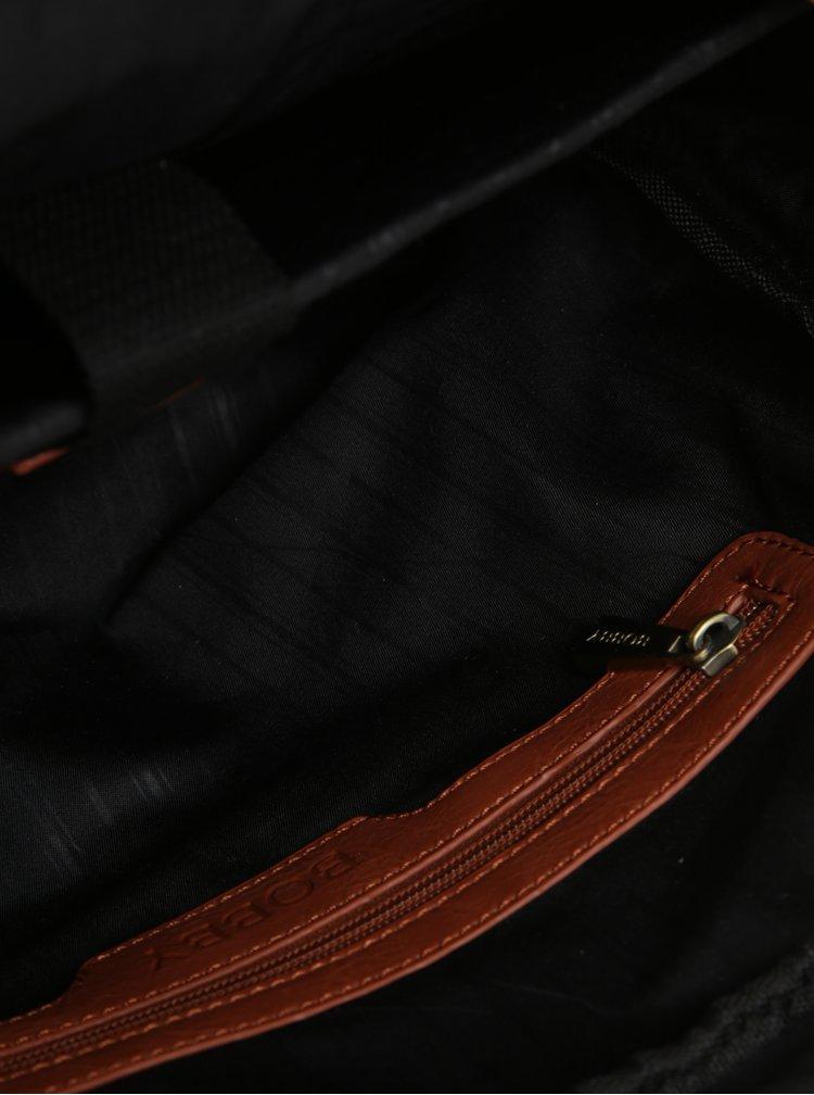 """Hnědá pánská taška na notebook s kapsou Bobby Black 15"""""""