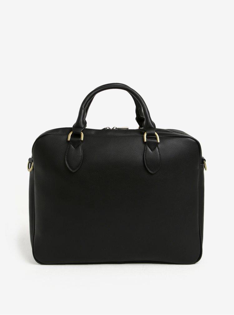 """Černá taška na notebook se zipem Bobby Black 15"""""""