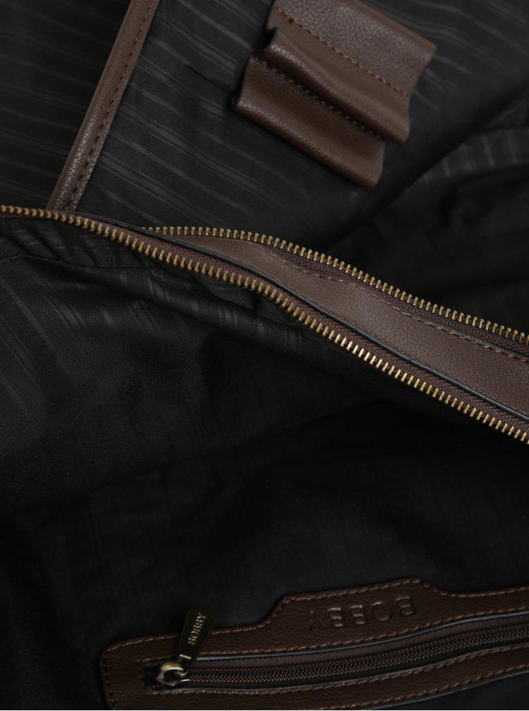 Geanta maro inchis din piele sintetica pentru barbati - Bobby Black