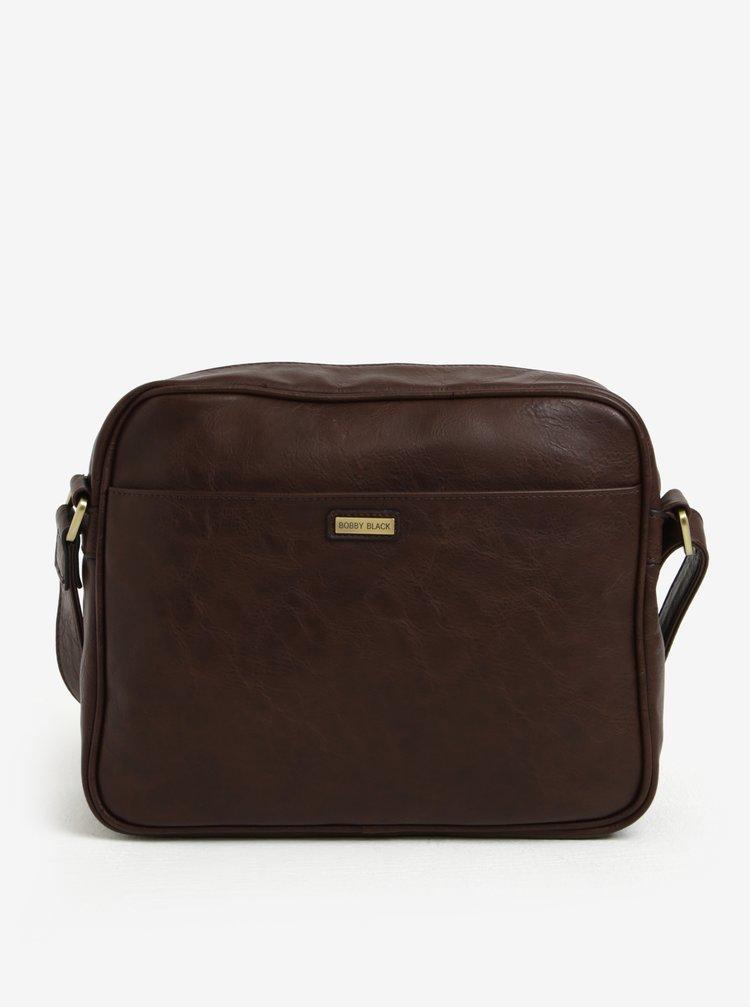 Tmavě hnědá taška přes rameno s detaily ve zlaté barvě Bobby Black