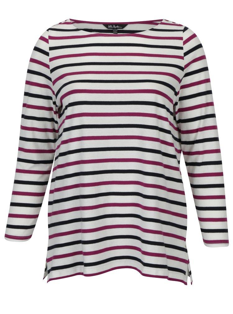 Bluza crem cu dungi mov&bleumarin Ulla Popken