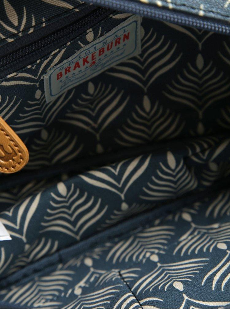 Modrá vzorovaná kosmetická taštička Brakeburn