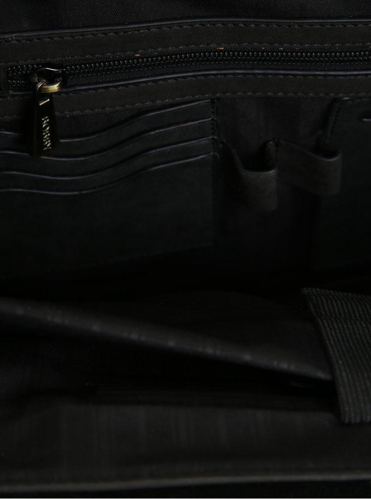 Geanta neagra cu catarame pentru barbati Bobby Black