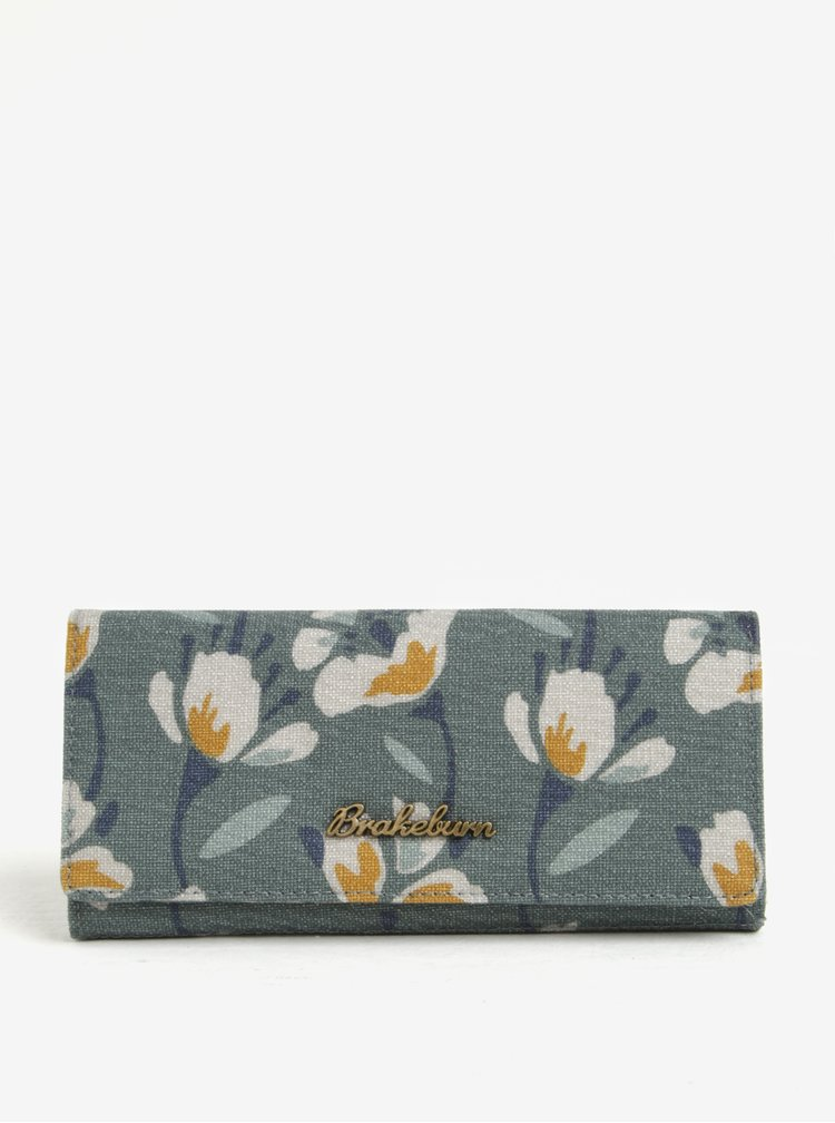Zelená květovaná peněženka Brakeburn