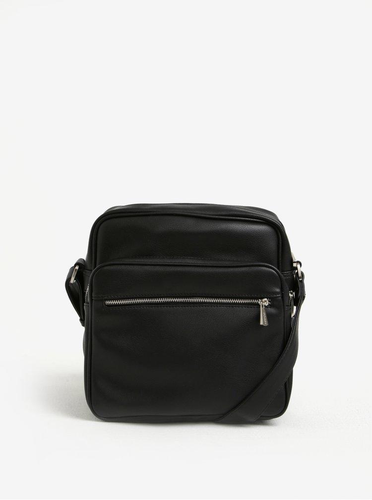 Černá crossbody taška s kapsou Bobby Black