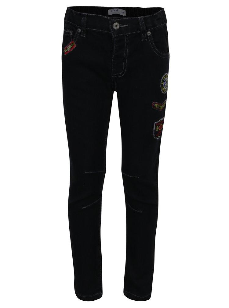 Černé klučičí slim džíny s nášivkami 5.10.15.