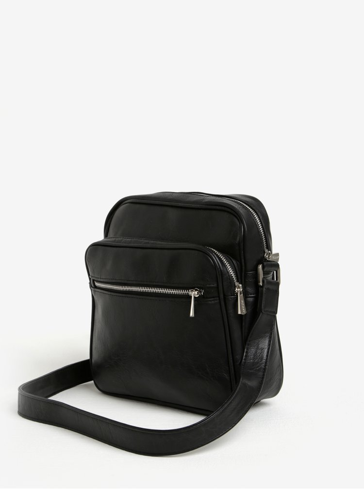 Čierna malá crossbody taška s vreckom Bobby Black