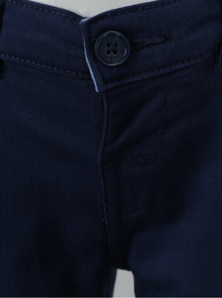 Tmavě modré klučičí regular kalhoty s kšandami 5.10.15.