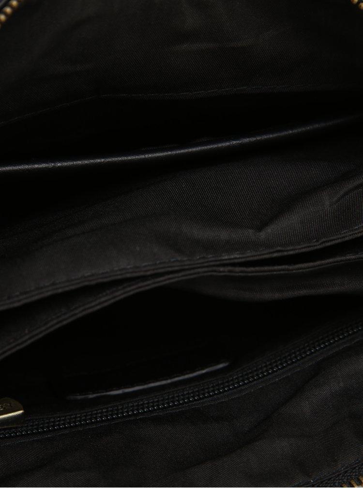 Černá crossbody taška se zipem ve zlaté barvě Bobby Black