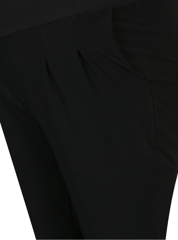 Pantaloni negri cu pense si talie elastica Mama.licious New Business