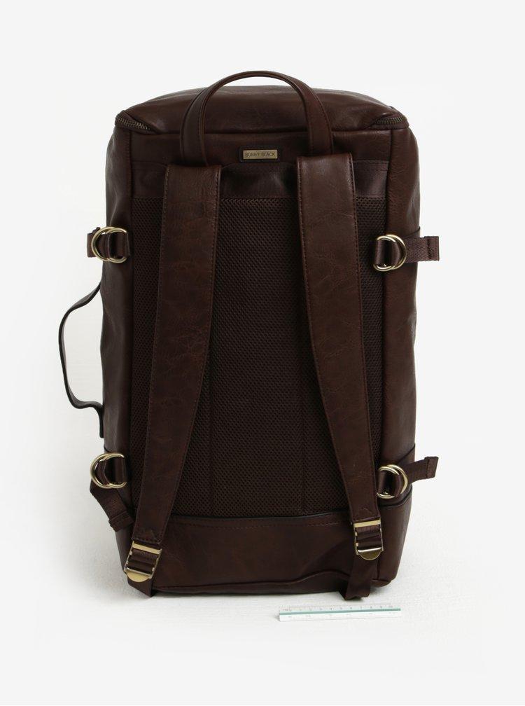 Tmavě hnědý batoh/cestovní taška Bobby Black