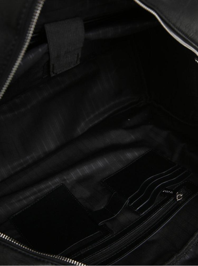 Geanta de voiaj neagra cu catarame pentru barbati Bobby Blackv