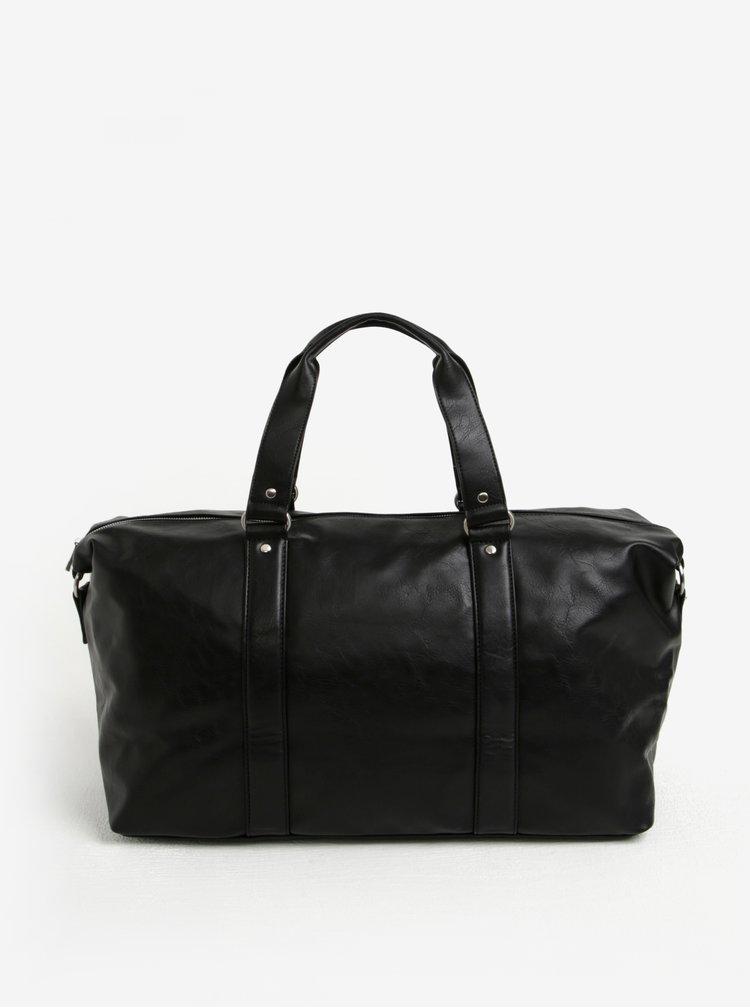 Geanta de voiaj neagra cu buzunar pentru laptop Bobby Black