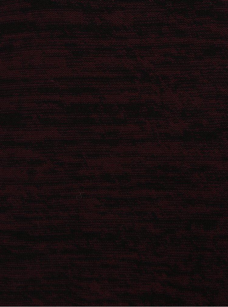 Vínový žíhaný svetr Jack & Jones Originals Fargo