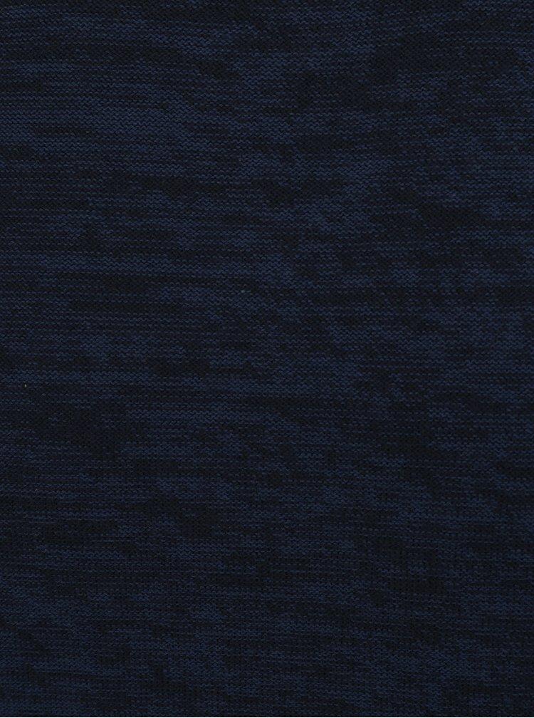 Pulover bleumarin melanj cu decolteu rotund Jack & Jones Originals Fargo