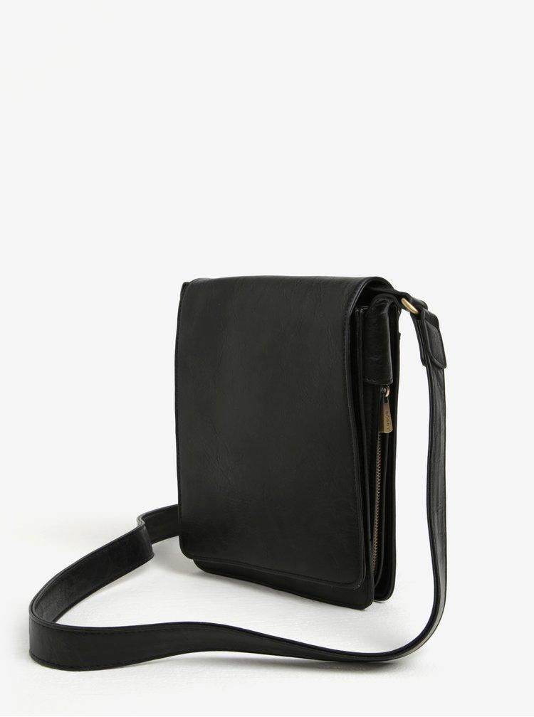 Černá crossbody taška se zipem barvě Bobby Black