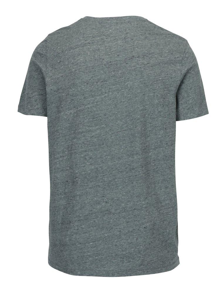 Světle zelené žíhané tričko s nášivkou Jack & Jones Blah TEE