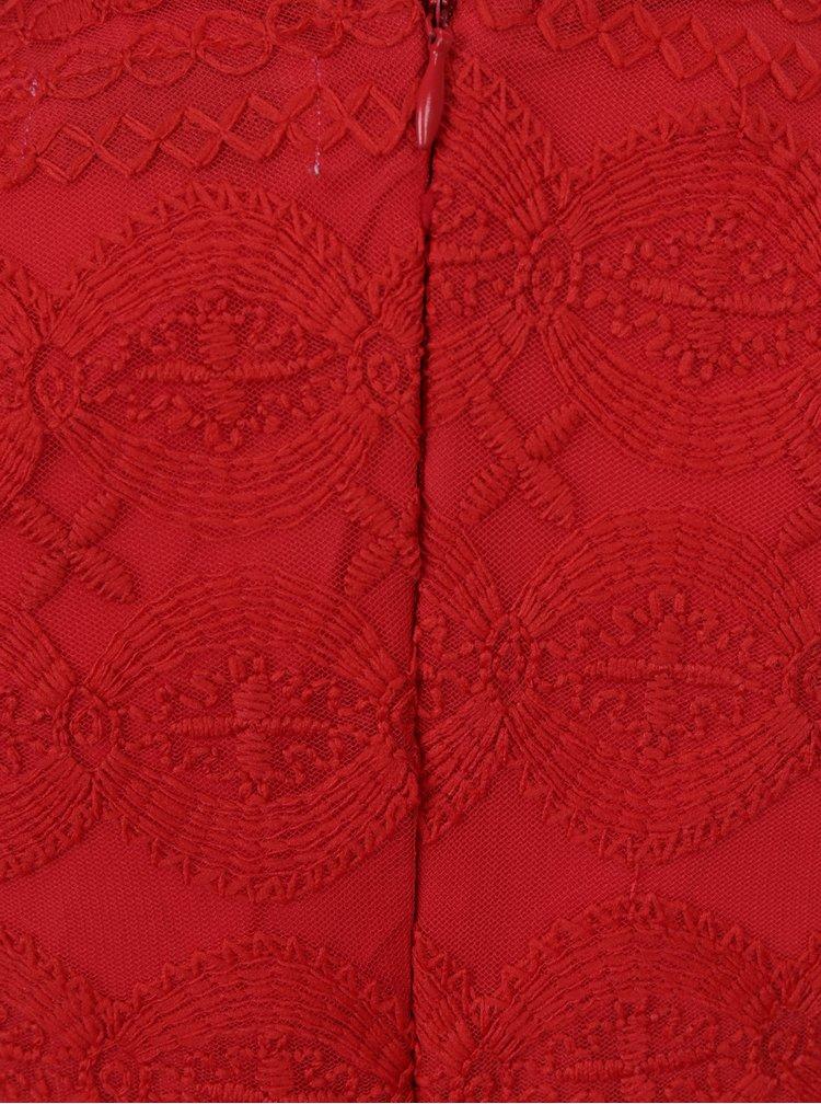 Červené holčičí šaty s tylovou sukní a krajkovým vrchním dílem 5.10.15.