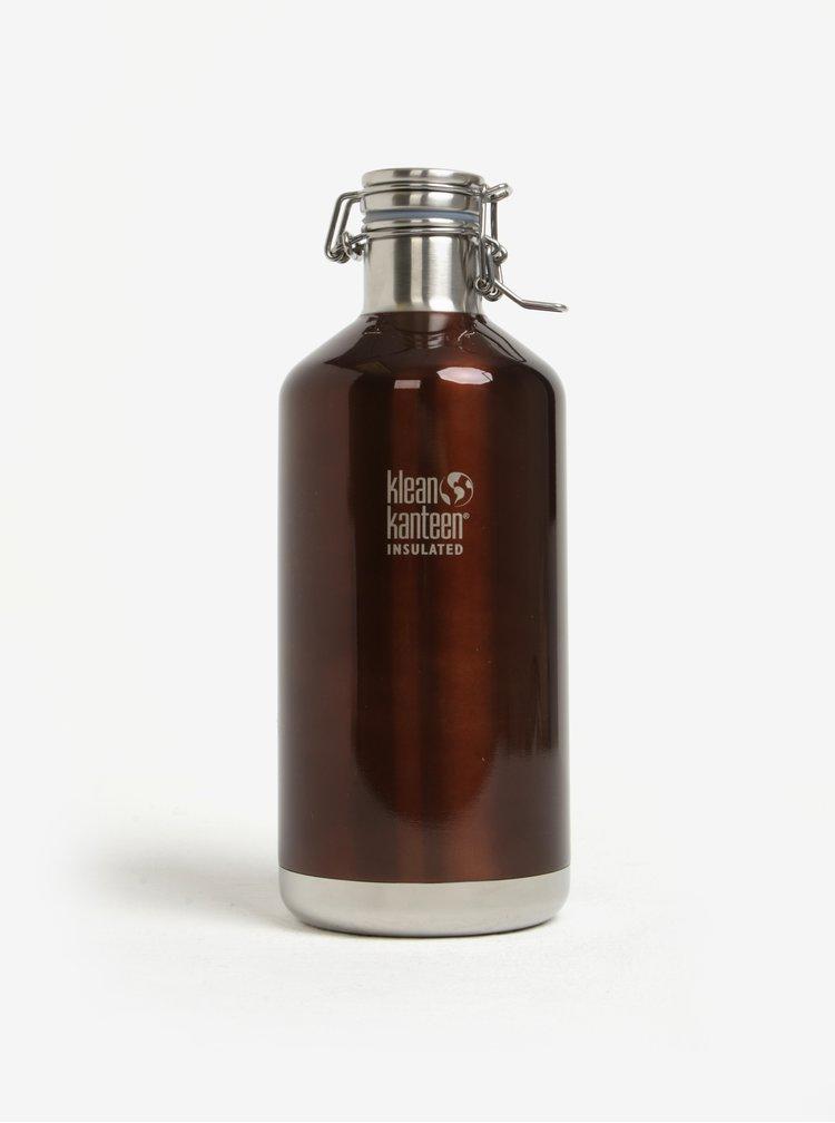 Hnědá nerezová lahev Klean Kanteen Growler 1900 ml