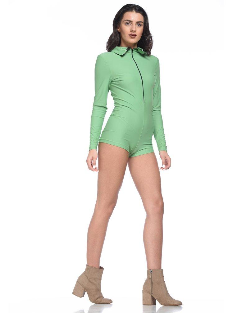 Body verde mentol cu maneci lungi - Alexandra Ghiorghie Orely