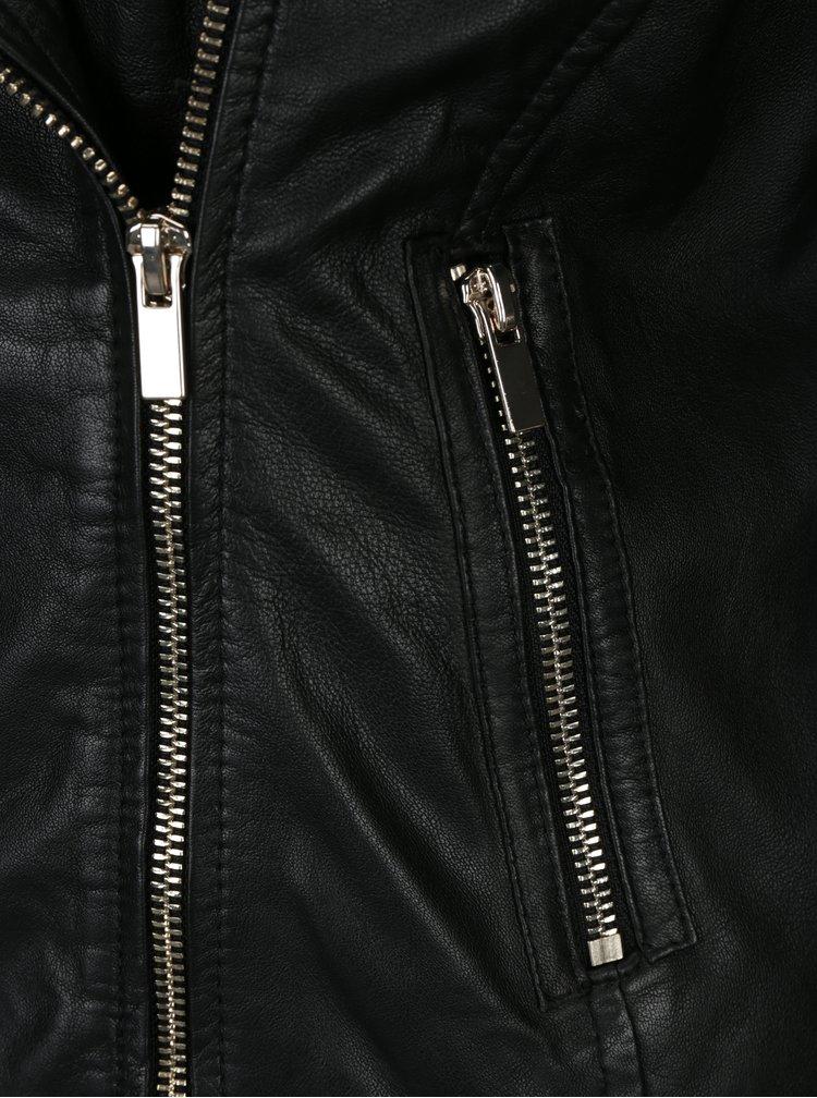 Černý kožený křivák VILA Nicola