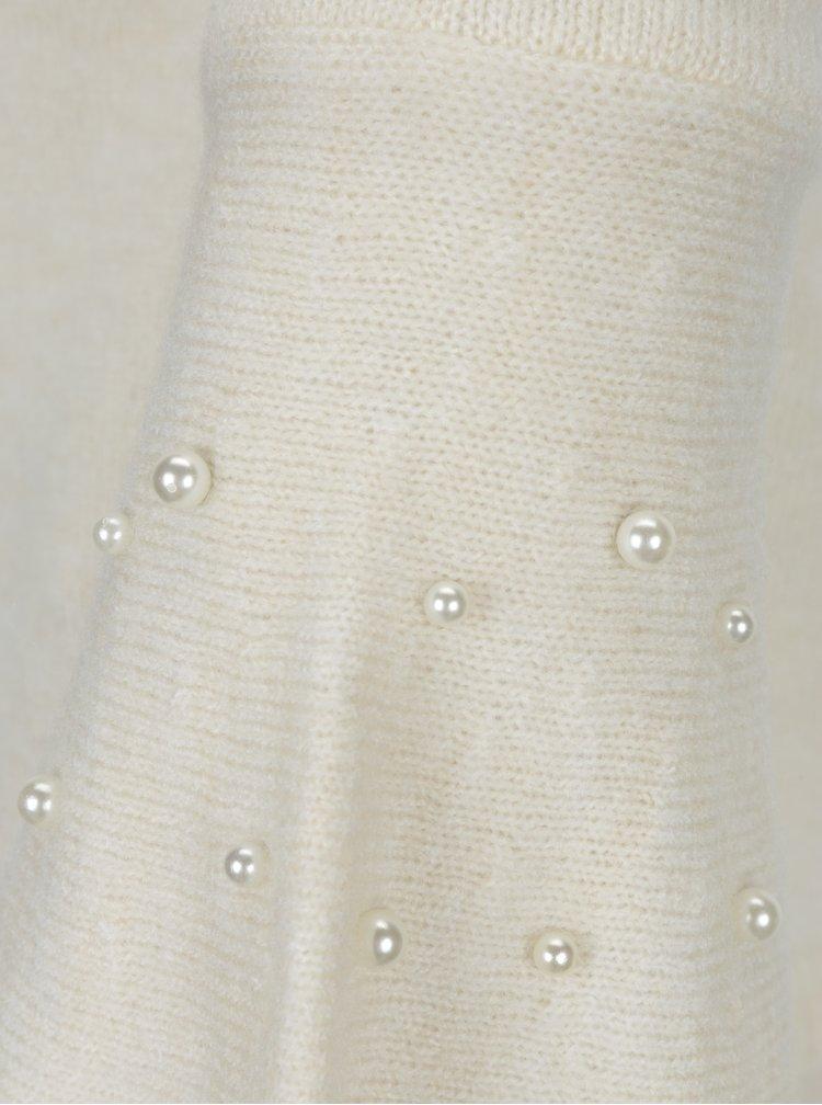 Krémový krátký svetr se zvonovými rukávy a odhalenými zády Miss Selfridge