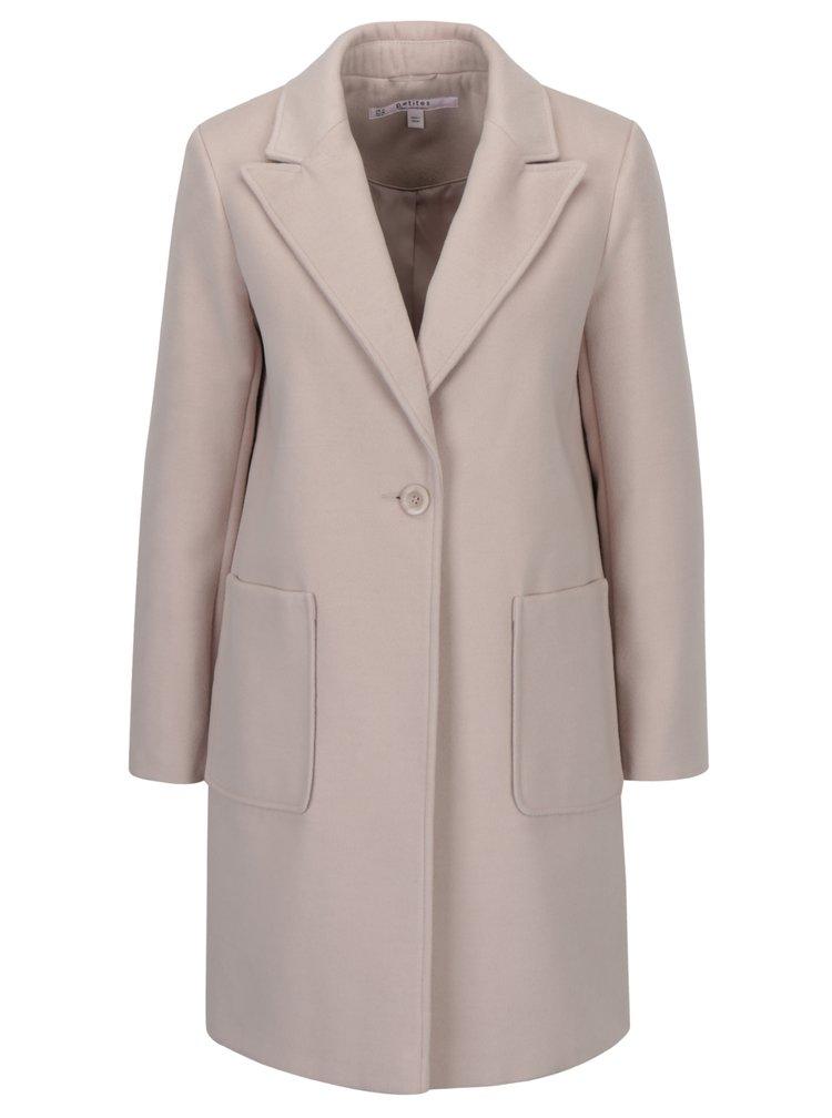 Svetloružový kabát Miss Selfridge Petites