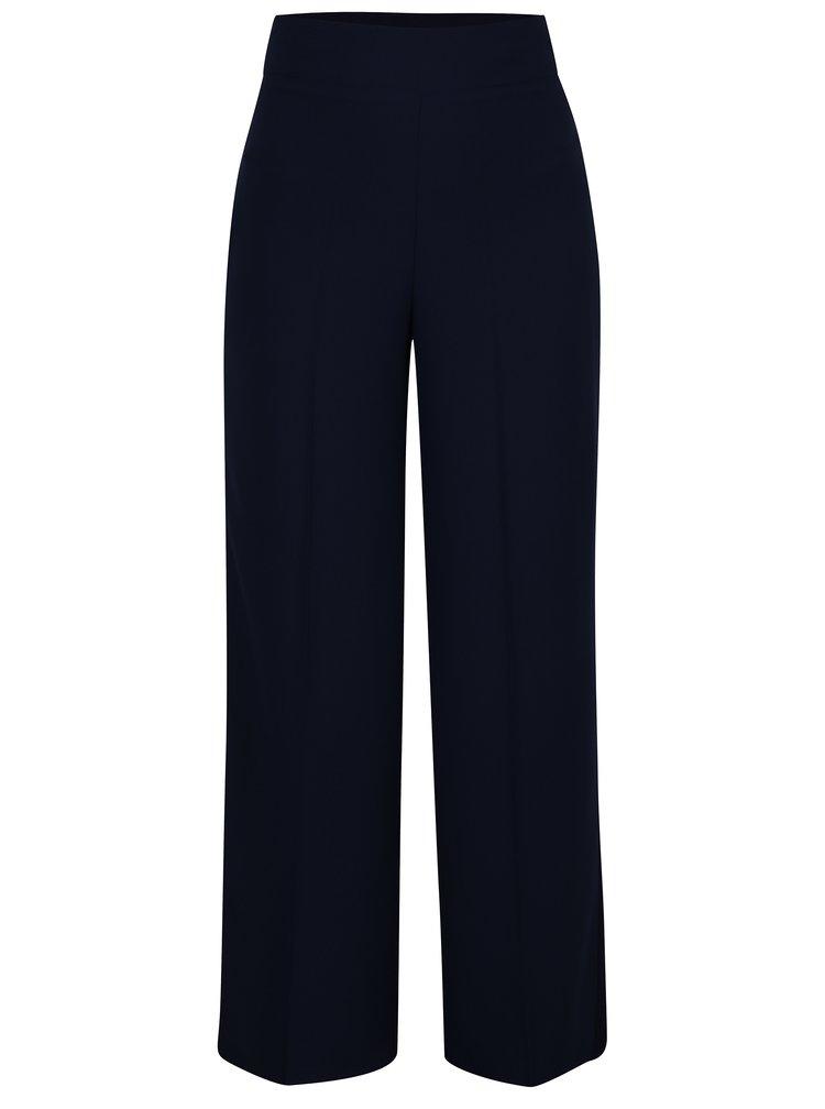 Tmavě modré kalhoty s vysokým pasem Miss Selfridge