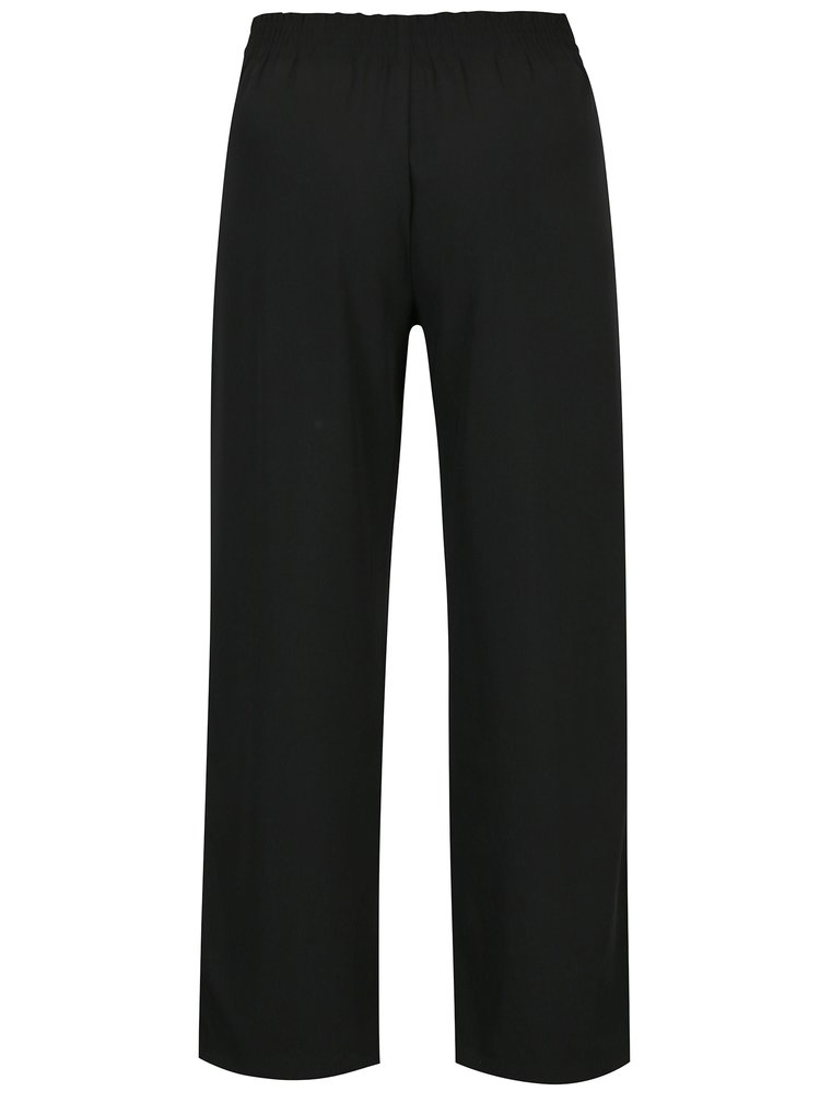 Pantaloni negri largi cu funda in talie - Jacqueline de Yong Chung