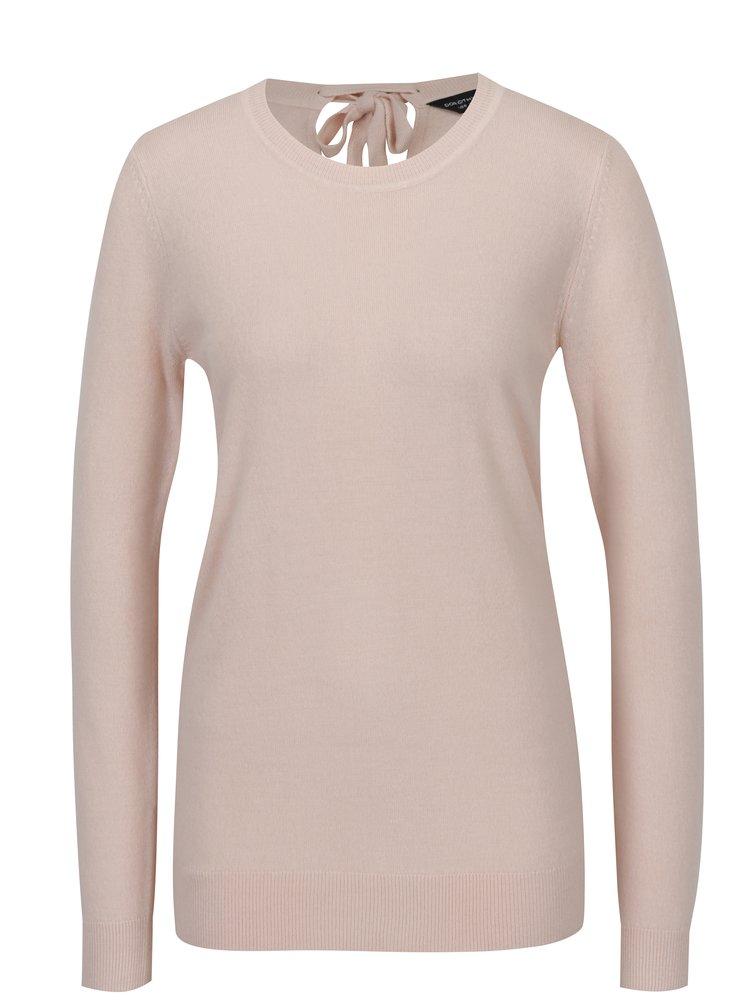 Růžový svetr se zavazováním na zádech  Dorothy Perkins