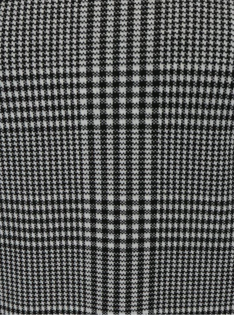 Krémovo-černé vzorované šaty s krátkým rukávem Dorothy Perkins