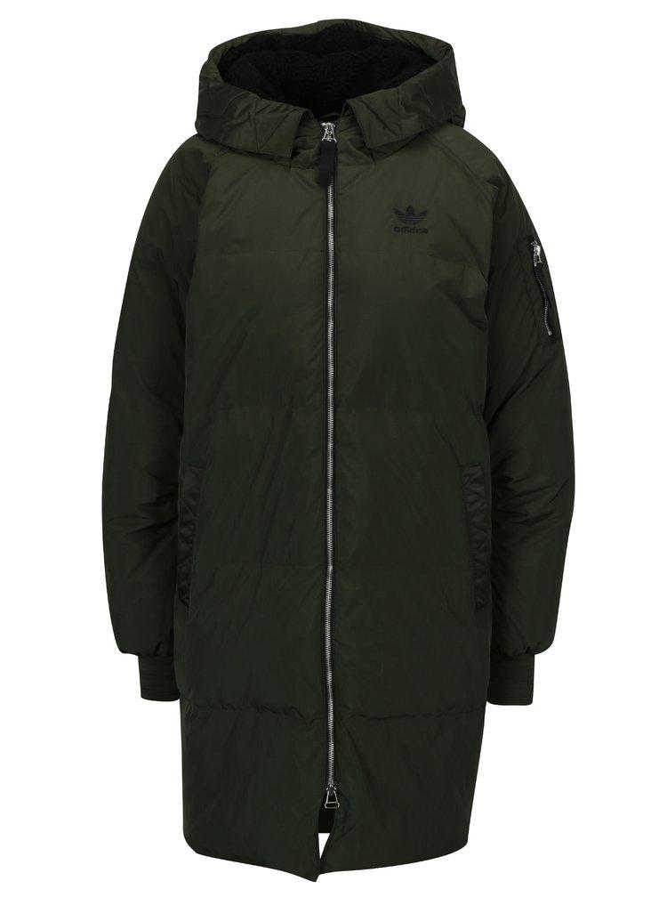 Khaki dámský zimní péřový kabát adidas Originals