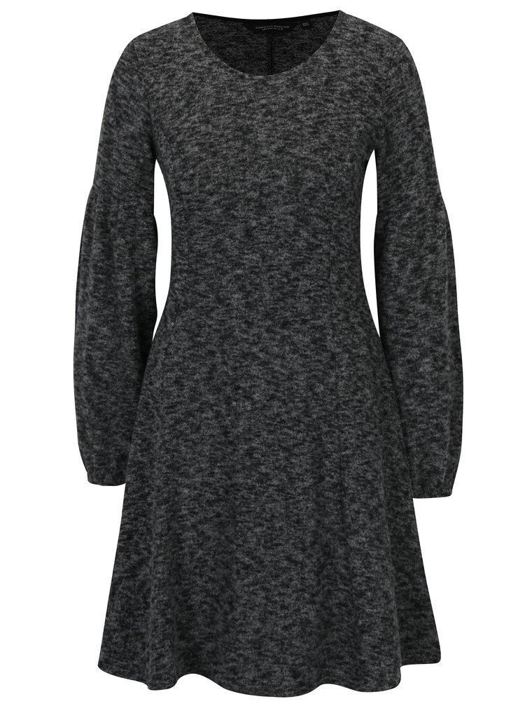 Šedé žíhané svetrové šaty Dorothy Perkins