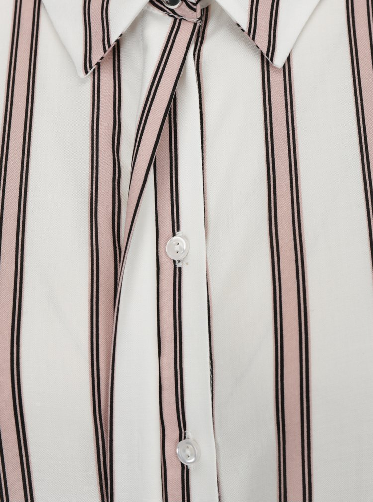 Růžovo-krémová pruhovaná košile Dorothy Perkins