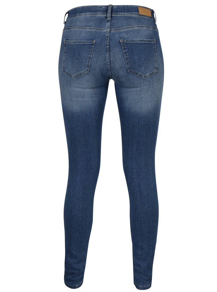 Modré skinny džíny Only Shape