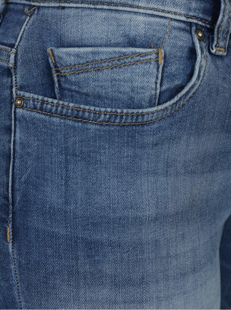 Blugi albastri skinny cu aspect decolorat Only Shape