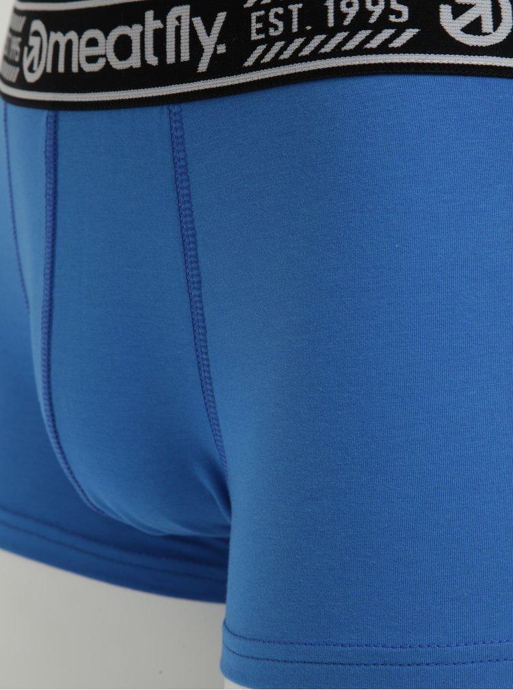 Set de doua perechi de boxeri albastri cu talie elastica - MEATFLY Balboa