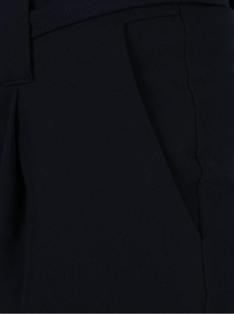 Tmavě modré kalhoty s páskem Dorothy Perkins