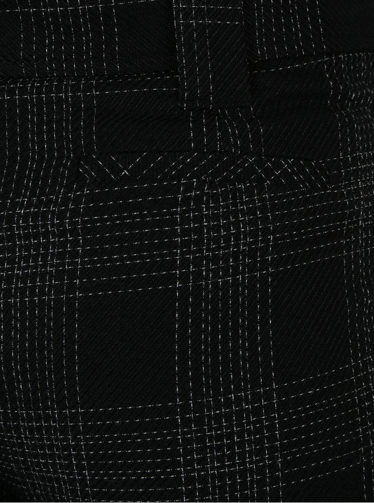 Černé vzorované kalhoty s páskem Dorothy Perkins
