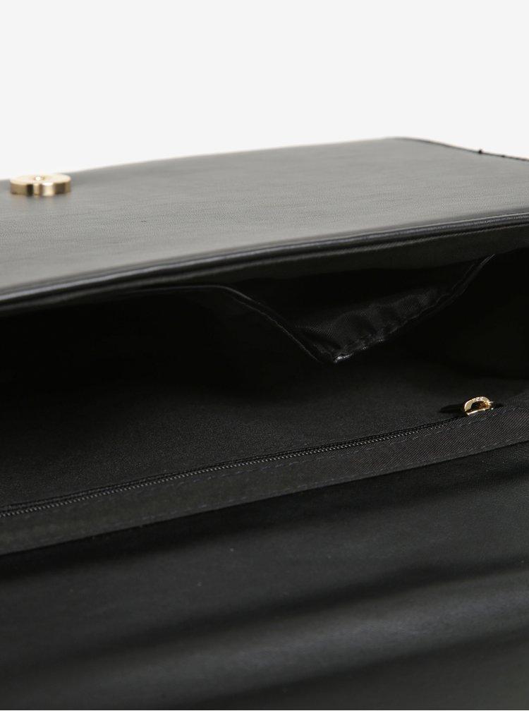 Černá crossbody kabelka s detaily ve zlaté barvě Dorothy Perkins