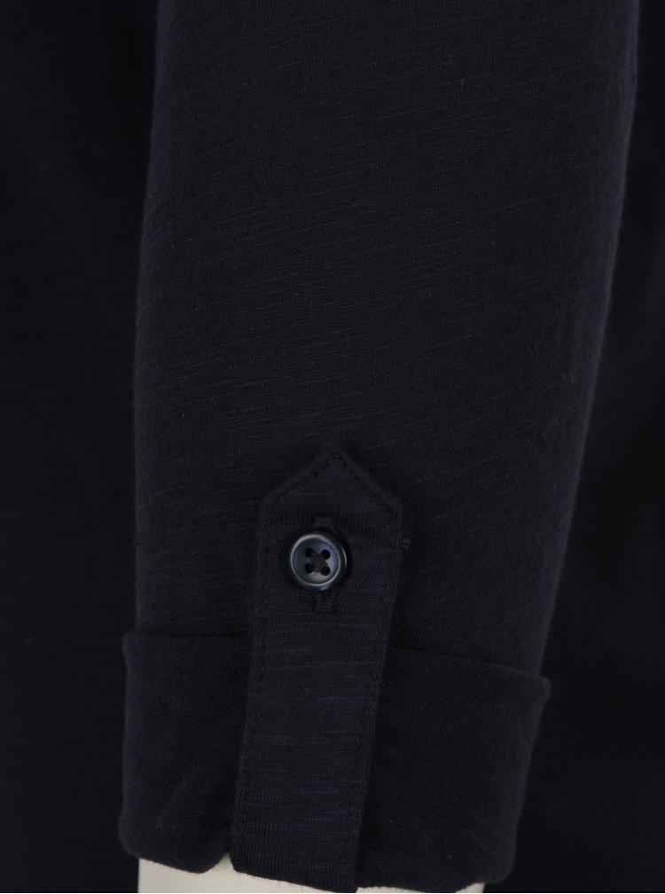 Tmavomodré tričko s 3/4 rukávom ONLY Bone