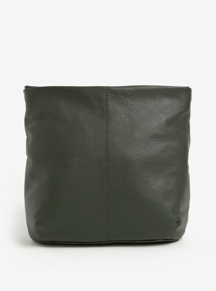Tmavě zelená kožená crossbody kabelka ELEGA Adrie