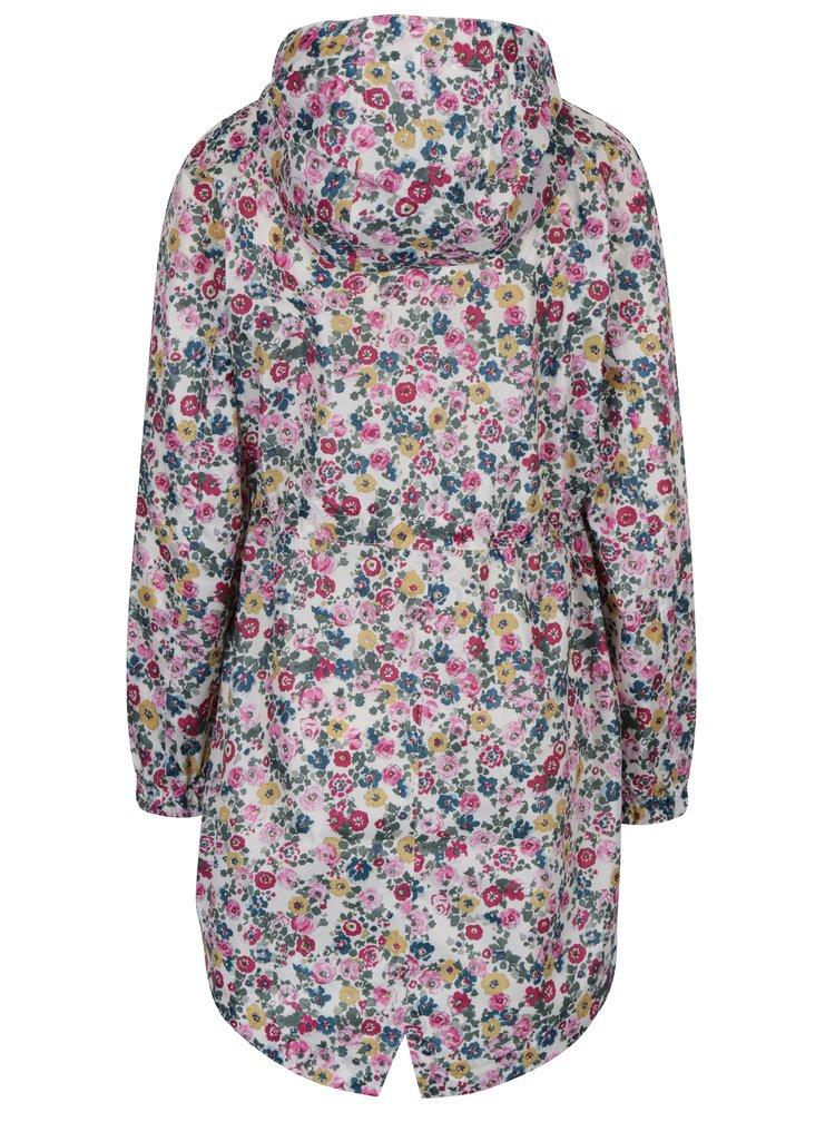 Krémová dámská květovaná pláštěnka Tom Joule