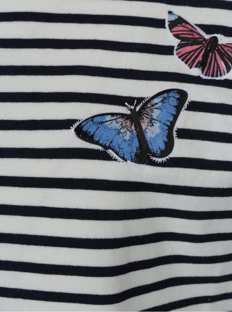 Modro-bílé pruhované šaty name it Kasja