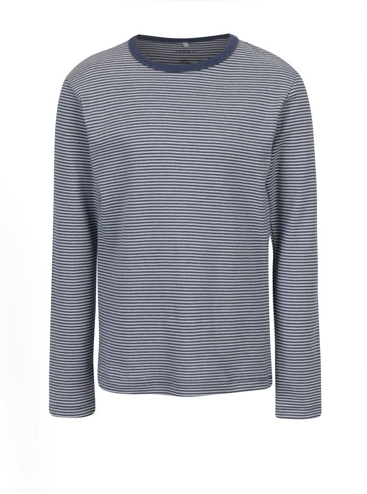 Krémovo-modré holčičí pruhované tričko s dlouhým rukávem name it Villy