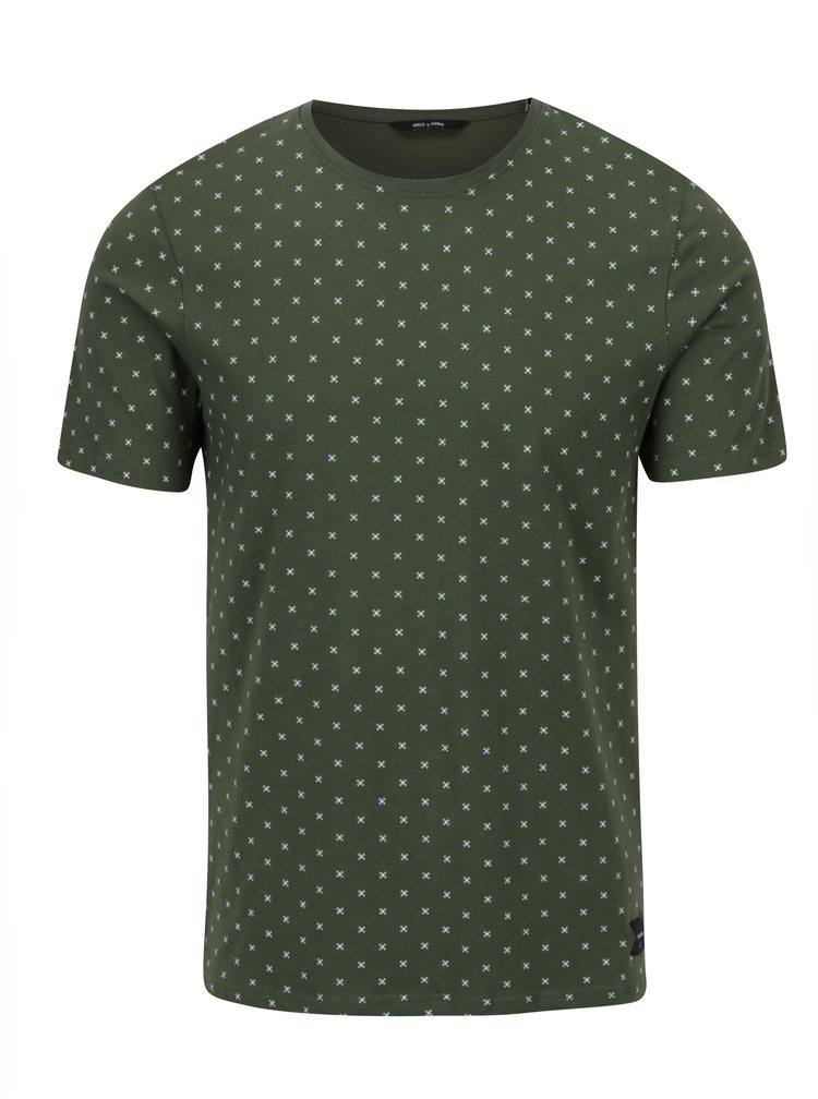 Tricou verde cu buline - ONLY & SONS Morten