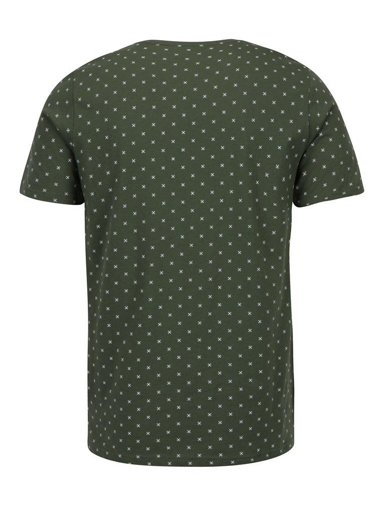 Zelené vzorované tričko ONLY & SONS Morten