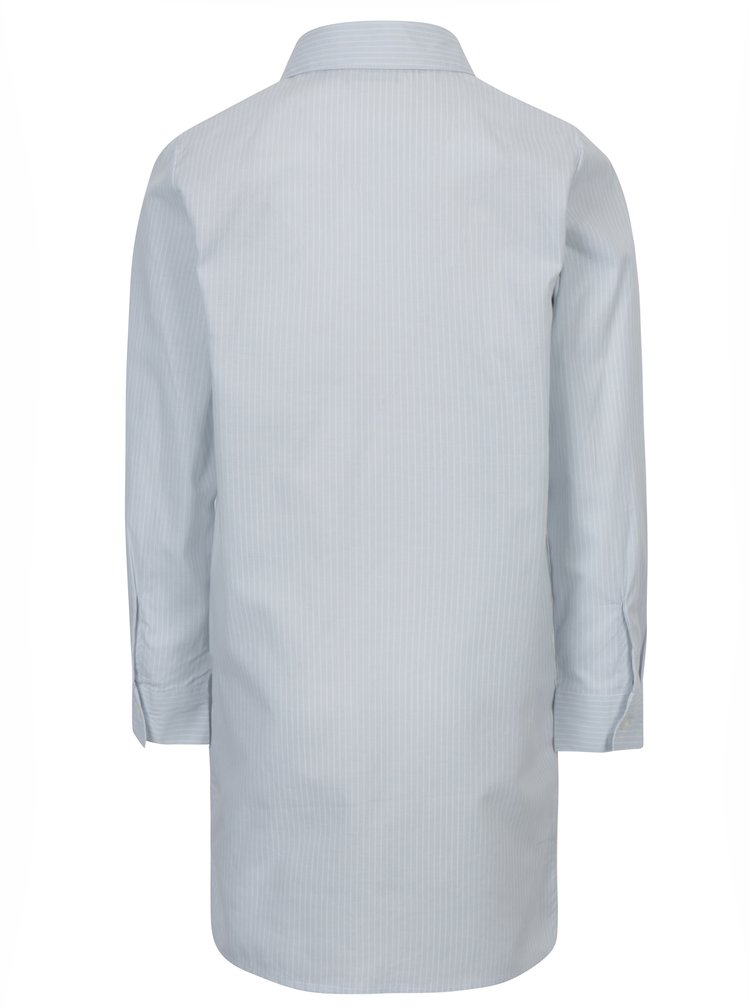 Světle modrá holčičí pruhovaná košile s výšivkou name it Keeny